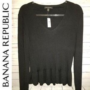Banana Republic Peplum Sweater Top | Size Medium